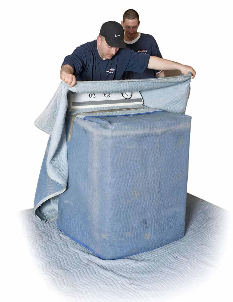 déménagement de laveuse